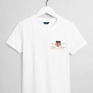 Gant, T-paita, Archive shield ss t-shirt, Valkoinen