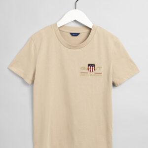 Gant, T-paita, Archive shield ss t-shirt, Beige