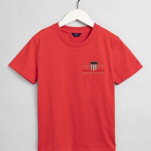 Gant, T-paita, Archive shield ss t-shirt, Punainen