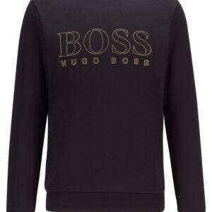 Hugo Boss, Collegepaita, Salbo Iconic, Musta