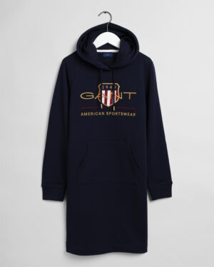 Gant, Archive shield Hoodie Dress, Tummansininen