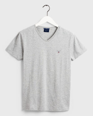Gant, Orginal slim V-neck t-shirt, harmaa