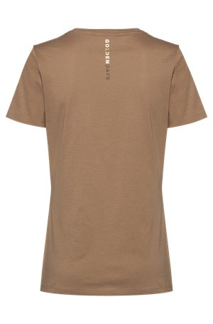 Hugo Boss T-paita C_Elogo_Gold Ruskea